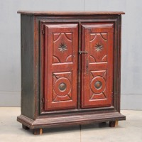 Antique cupboard, Sang De Boeuf patina
