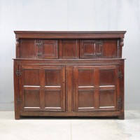 English Antique oak court cupboard