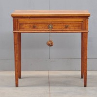 French Antique LOUIS XVI fruitwood architectural table