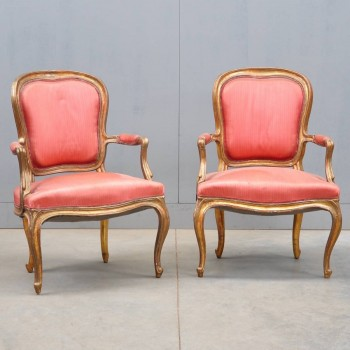 Antique french Pair of LOUIS XV armchairs | De Grande Antique Furniture