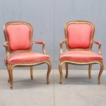 Antique french Pair of LOUIS XV armchairs | De Grande Antique Furniture