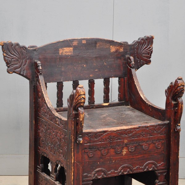 Swedish Carved Throne De Grande Antique Furniture