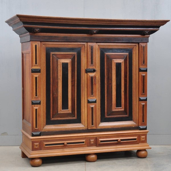 Dutch Oak and Ebony Renaissance Cupboard | De Grande Antique