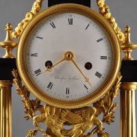 French marble pillar clock