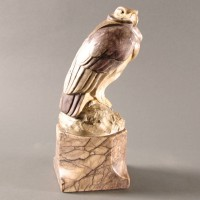 Hand Carved Marble Eagle Sculpture