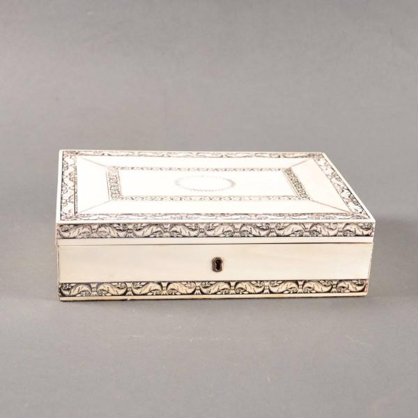 Indian bone veneer casket