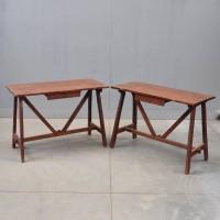 Antique Pair of Italian Rustique Side Tables