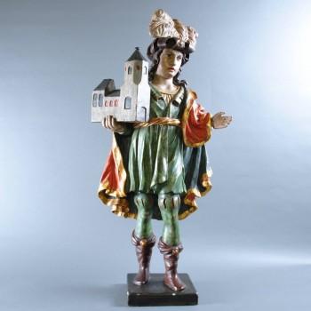 Wooden Sculpture of an elegant Austrian | Paul De Grande
