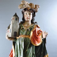 Wooden Sculpture of an elegant Austrian | Paul De Grande