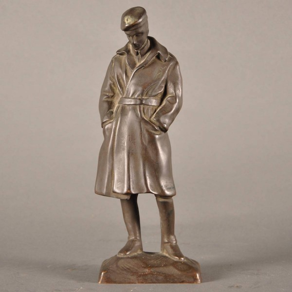 Antique Bronze figure of a soldier at rest