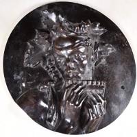Antique Bronze relief figure of Bacchus