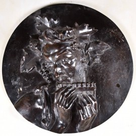 Antique Bronze relief figure of Bacchus