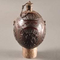 Dutch Carved Coconut Flask | De GrandeDutch Carved Coconut Flask | De Grande Decorative Objects Decorative Objects