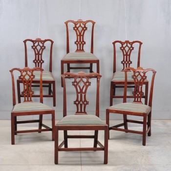 Set of Antique English mahogany chairs | De Grande Antique Furniture