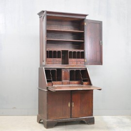 Antique English oak bureau bookcase | De Grande Antique Furniture