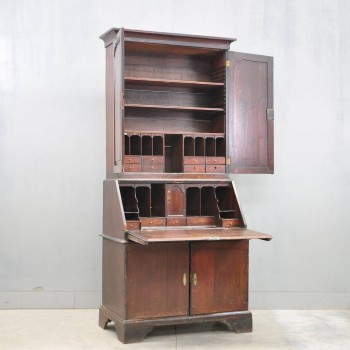 Antique English oak bureau bookcase | De Grande Antique Furniture