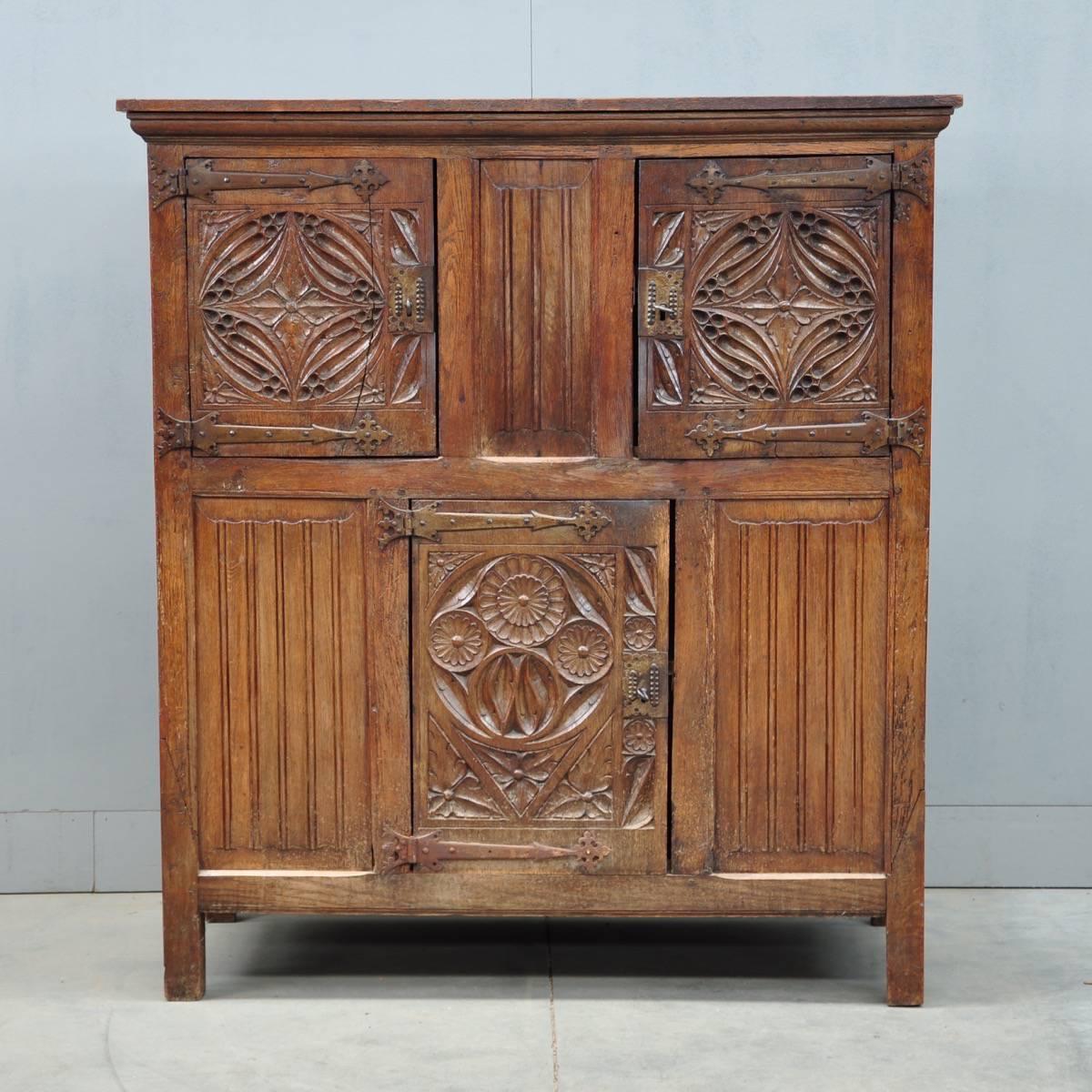 Antique Flemish cabinet   De Grande Flemish Antique Furniture - Flemish Cabinet De Grande Flemish Antique Furniture