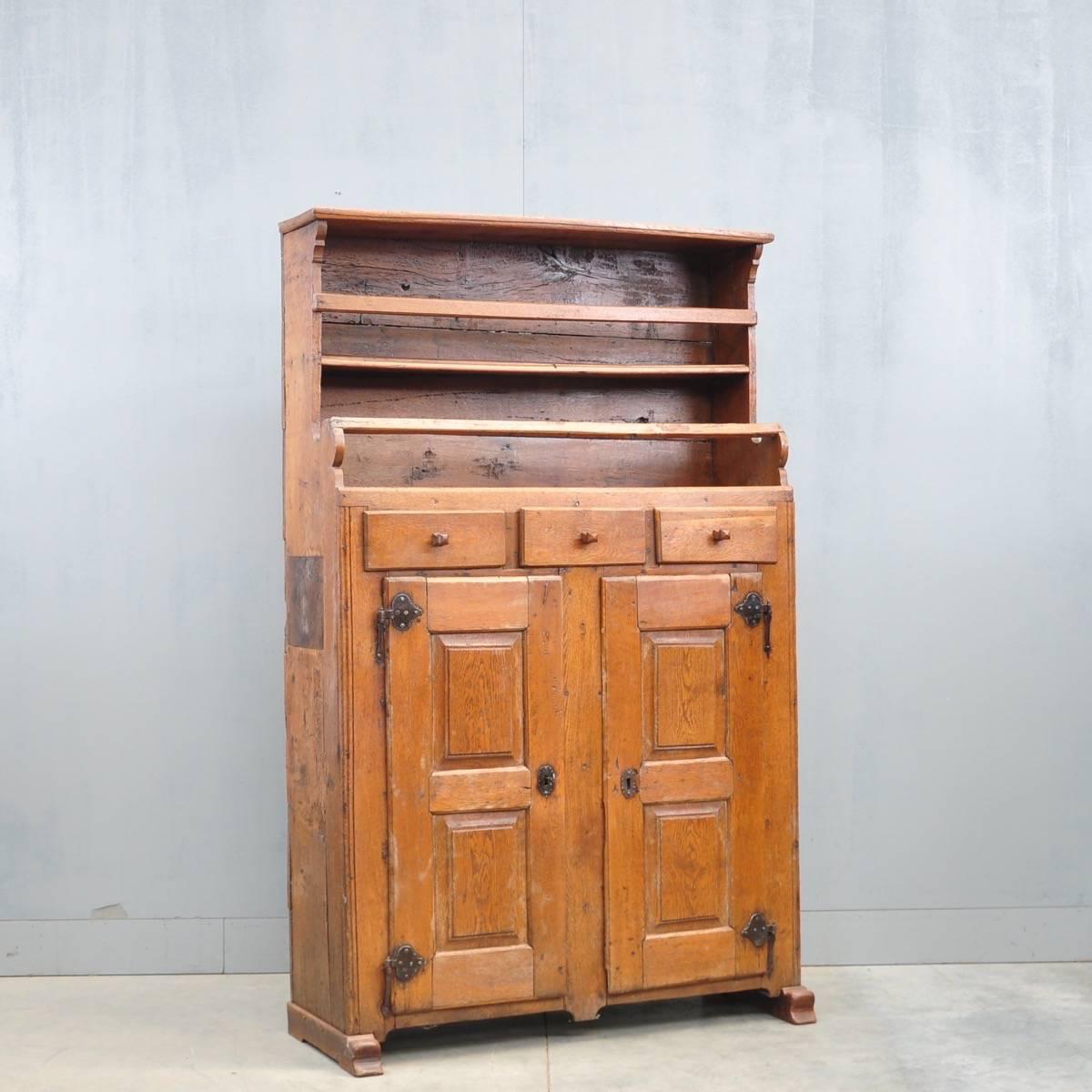 - German Oak Food Cabinet De Grande Antique Furniture