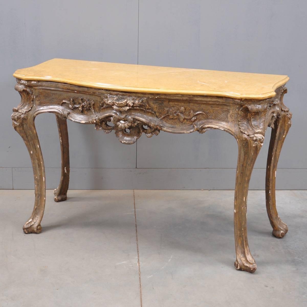 antique italian console table de grande antique furniture. Black Bedroom Furniture Sets. Home Design Ideas