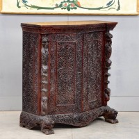 Antique Oriental carved cabinet | De Grande Antique Furniture