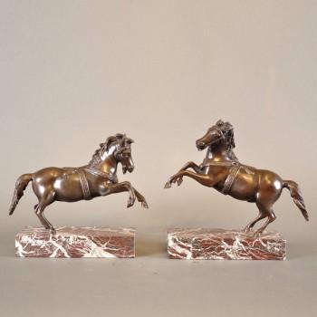 Pair of bronze horses | De Grande Antique Bronze Statues