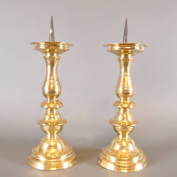 Pair of early Italian candlesticks | De Grande haute époque