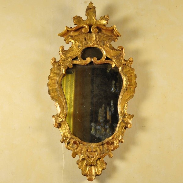 Pair of gilded Venetian mirrors | De Grande Antique Furniture