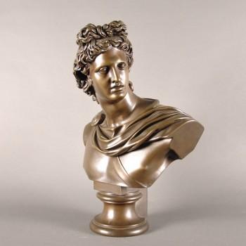 Apollo Belvedere Bronze Bust | De Grande Fine Arts Bronze Sculptures