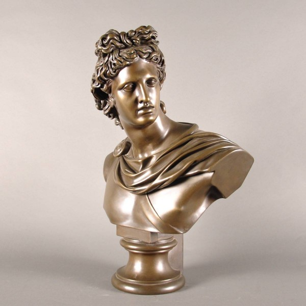 Apollo Belvedere Bronze Bust | De Grande Fine Arts Bronze Sculptures