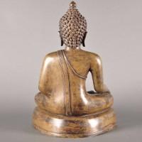 Bronze Buddha in vajrasana, Mandalay style