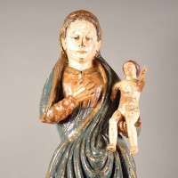 Spanish Madonna with child | De Grande Early Sculptures