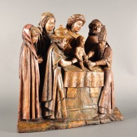 Carved Statue of the circumcision of Christ