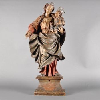 Flemish Madonna with child | De Grande Haute époque