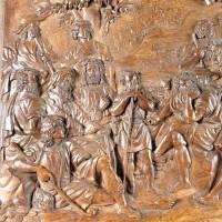 Flemish relief of Christ preaching to disciples | De Grande haute époque sculptures