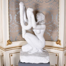 L'offrande, White Carrara Marble Figure signed Marcel Wolfers (Belgian, 1886–1976) Fine art sculptures