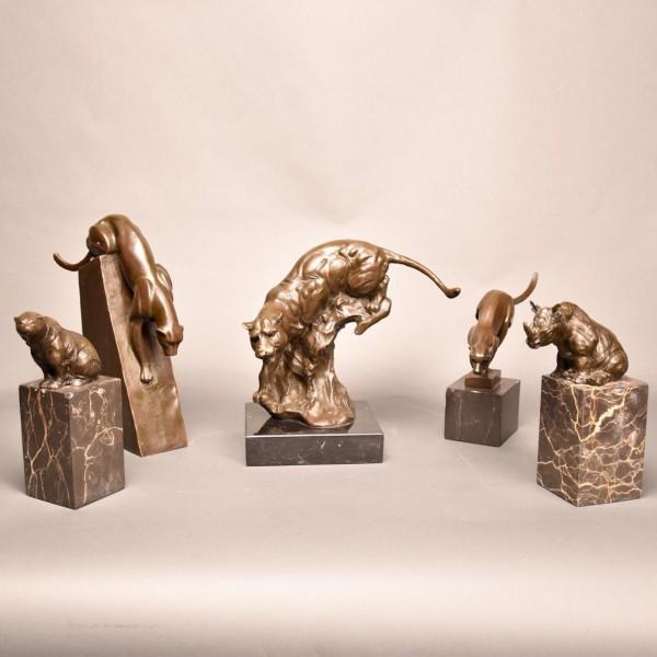 Set of 5 animalier bronzes | De Grande Fine Bronze Sculptures