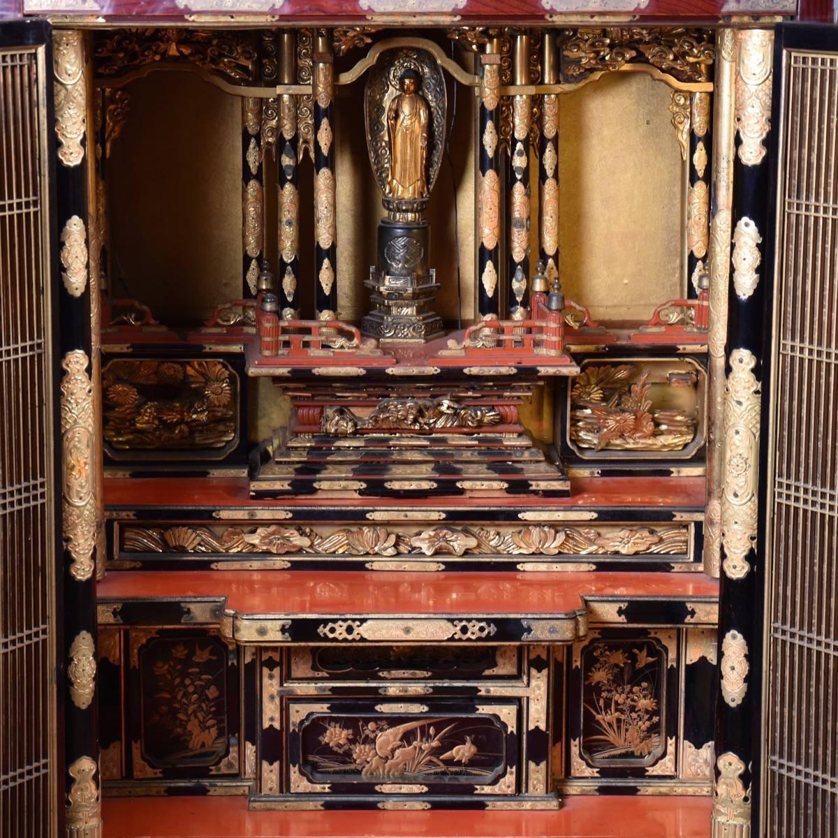 Altar Cabinet Shrine De Grande Asian Antique Furniture