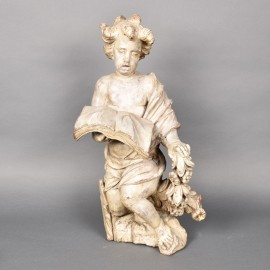 Wooden angel | De Grande Antiques and Decorative Objects