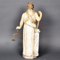Lady Justice wooden sculpture  | De Grande Antique wooden sculptures