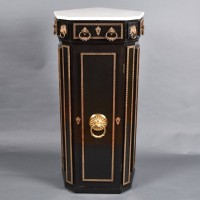 Antique Ebonized corner cupboard | De Grande Antique Furniture