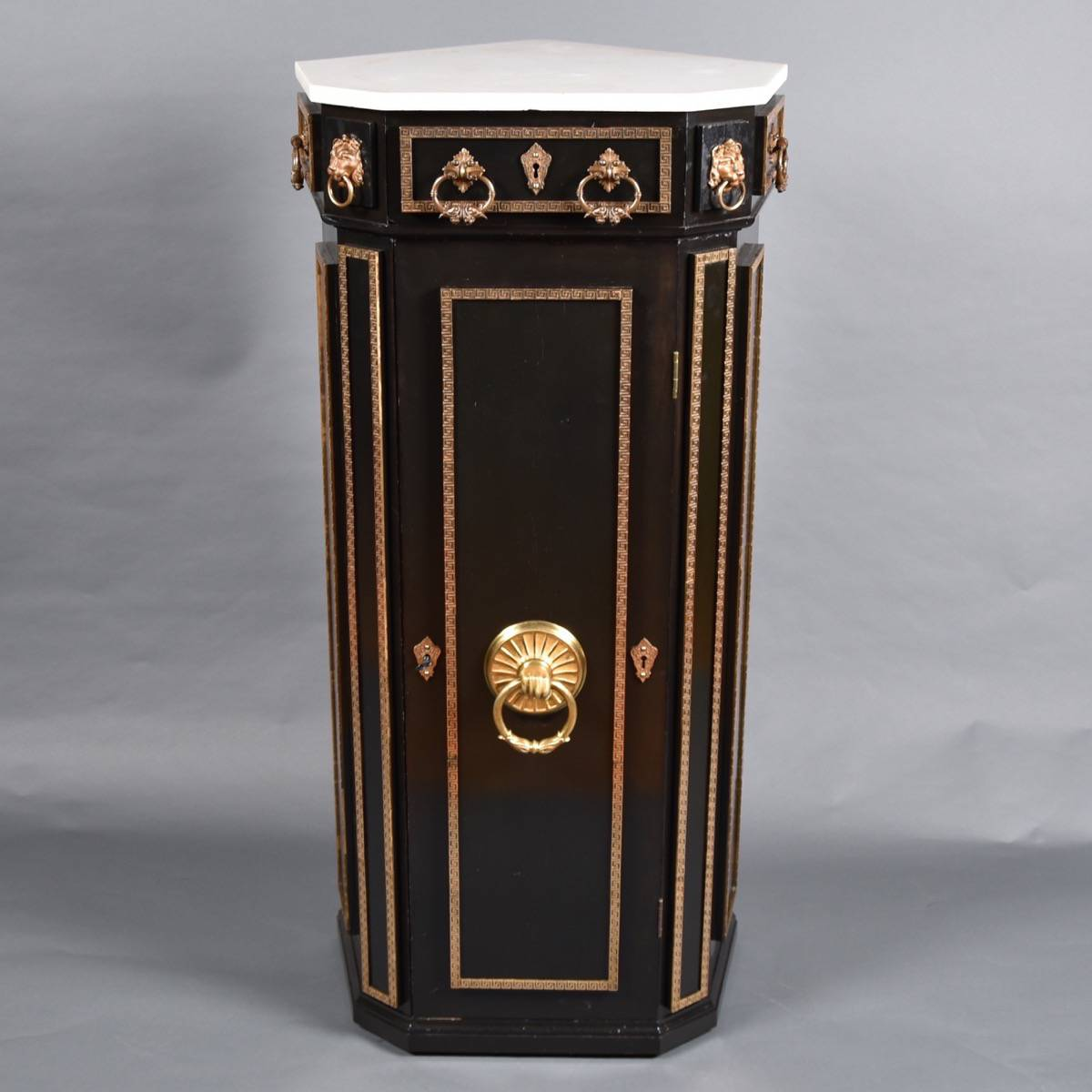 Antique Ebonized corner cupboard   De Grande Antique Furniture - Ebonized Corner Cupboard De Grande Antique Furniture