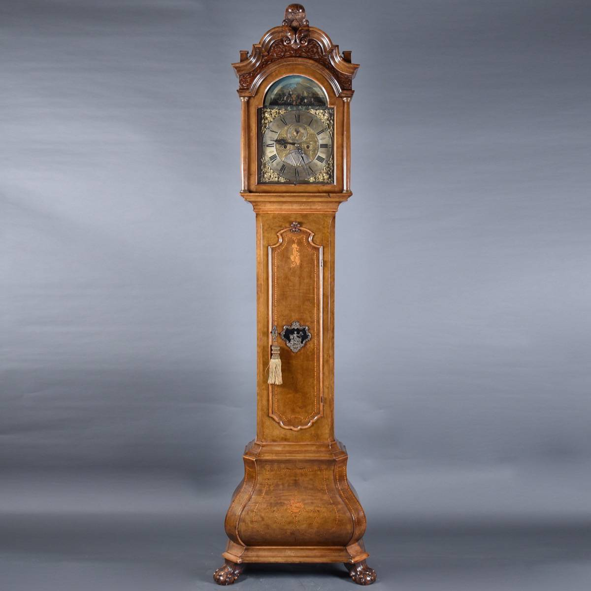 Dutch Tall Case Clock De Grande Dutch Antique Furniture