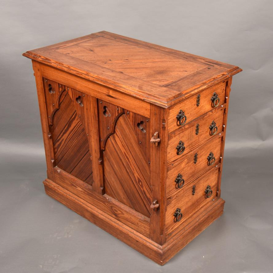 English Neo Gothic Desk De Grande Antique Furniture