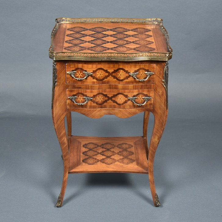French inlaid table