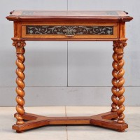 German Antique Pewter inlaid Table