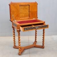 Antique German Pewter inlaid Table | De Grande Antique Furniture