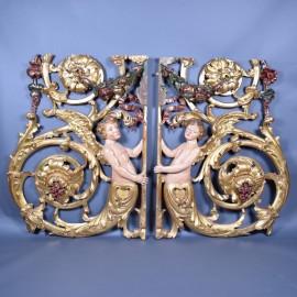 Pair of Venetian reliefs | De Grande Antique architectural reliefs