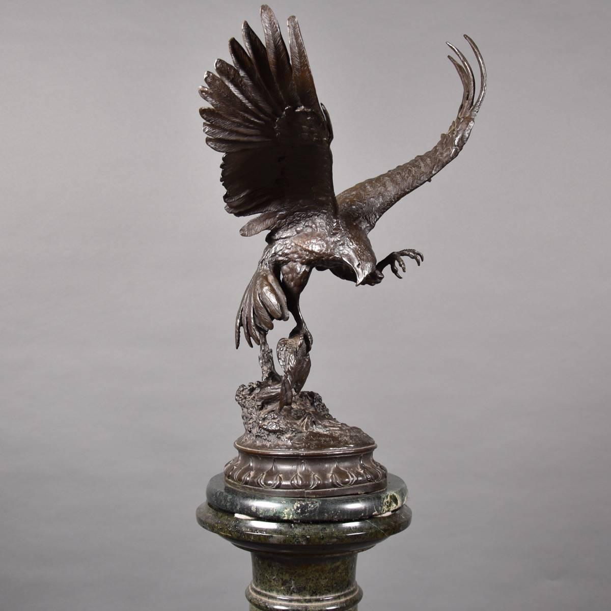 Vases Hunting Eagle Bronze Sculpture De Grande Bronze Fine Art