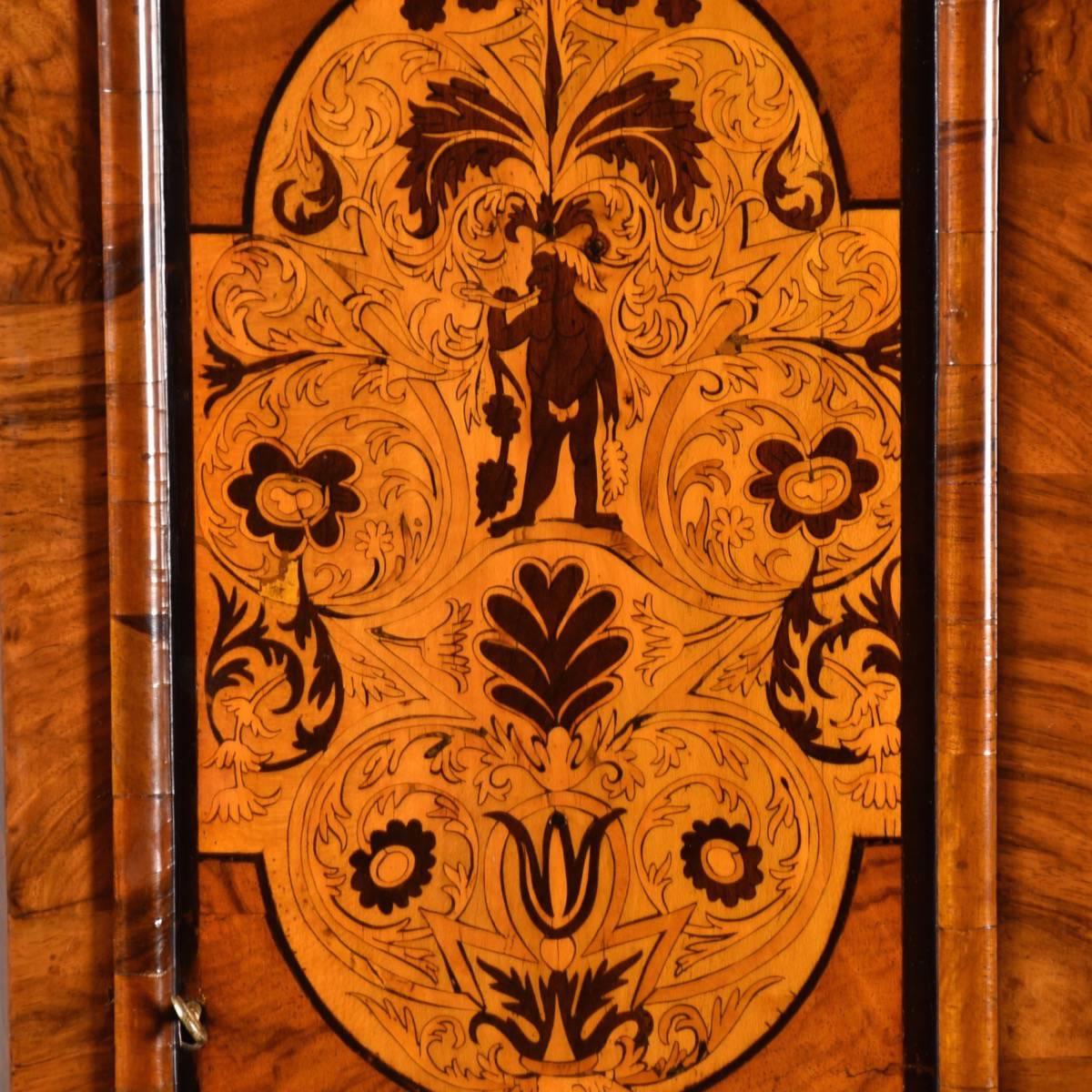 Marquetry Tall Case Clock De Grande Antique Furniture