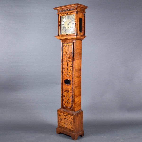antique Marquetry tall case clock | De Grande Antique Furniture